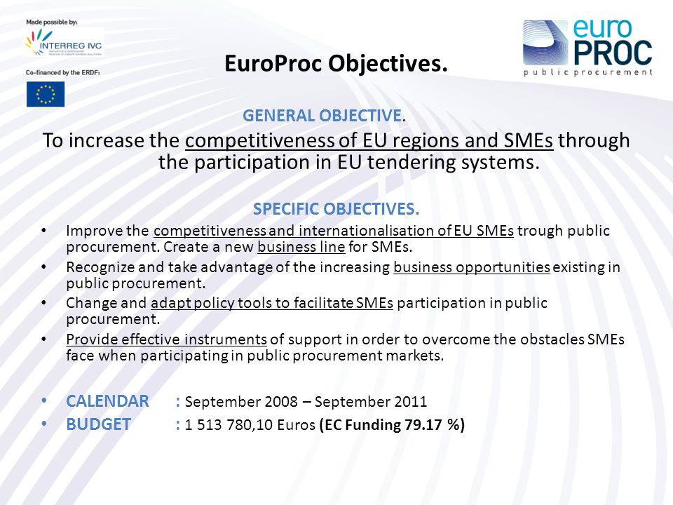 EuroProc Partnership: 11 partners from 10 regions