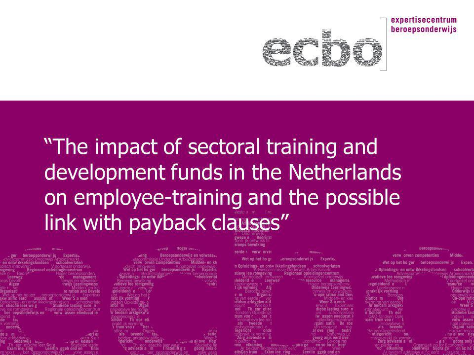 The impact of sectoral training and development funds in the Netherlands on employee-training and the possible link with payback clauses