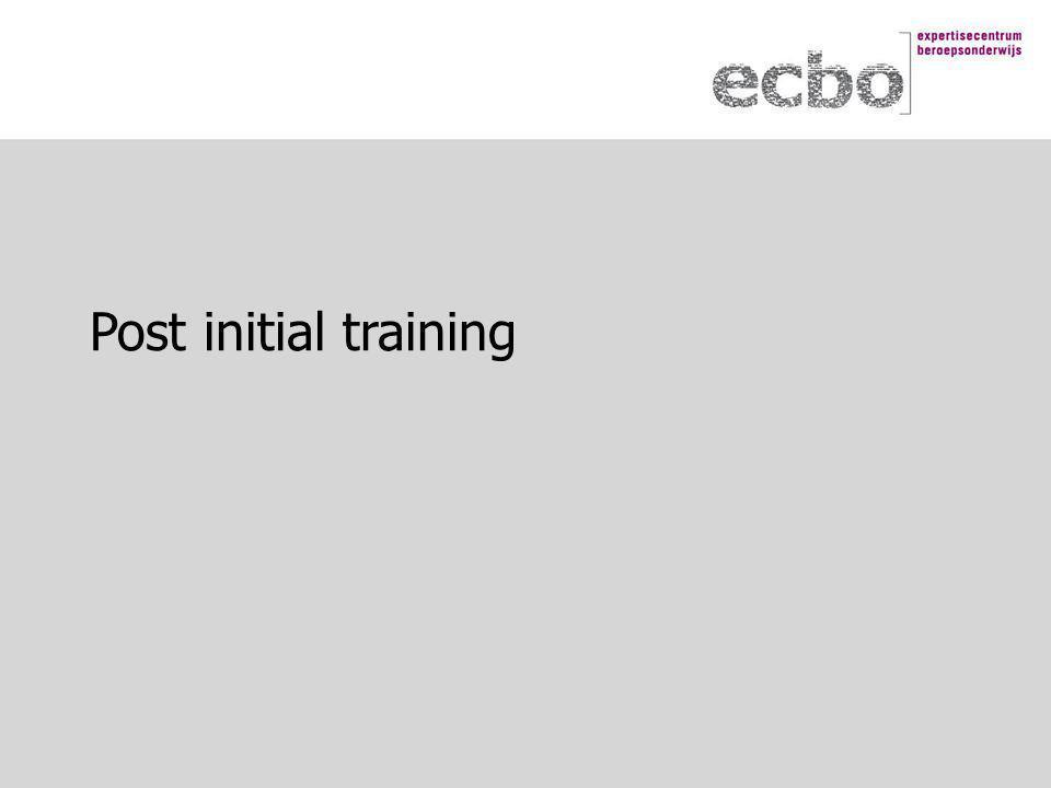 Post initial training