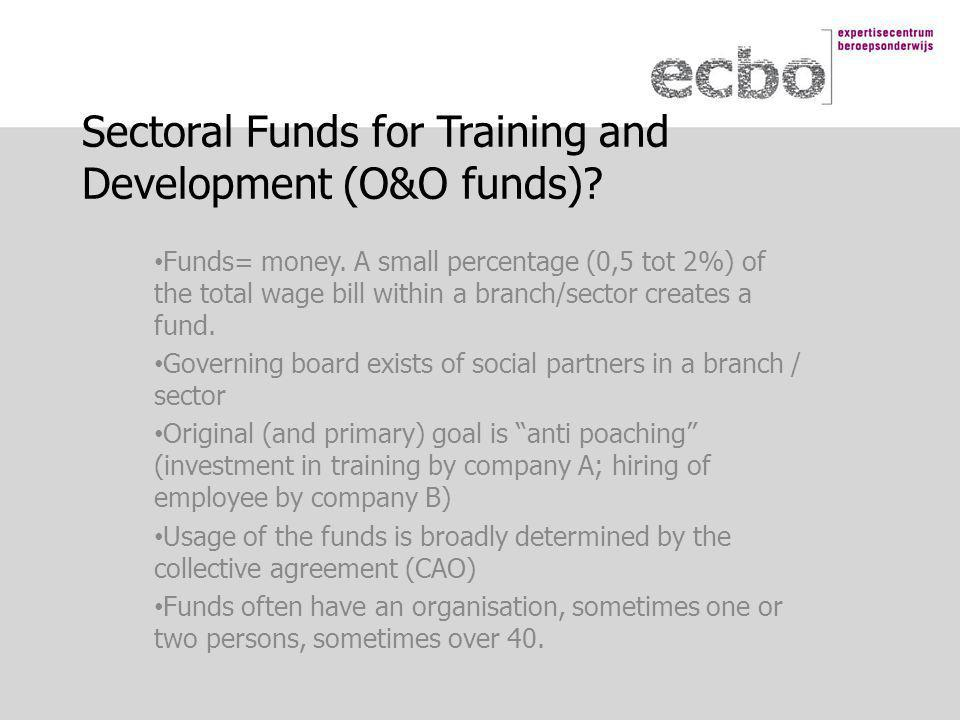 Sectoral Funds for Training and Development (O&O funds).