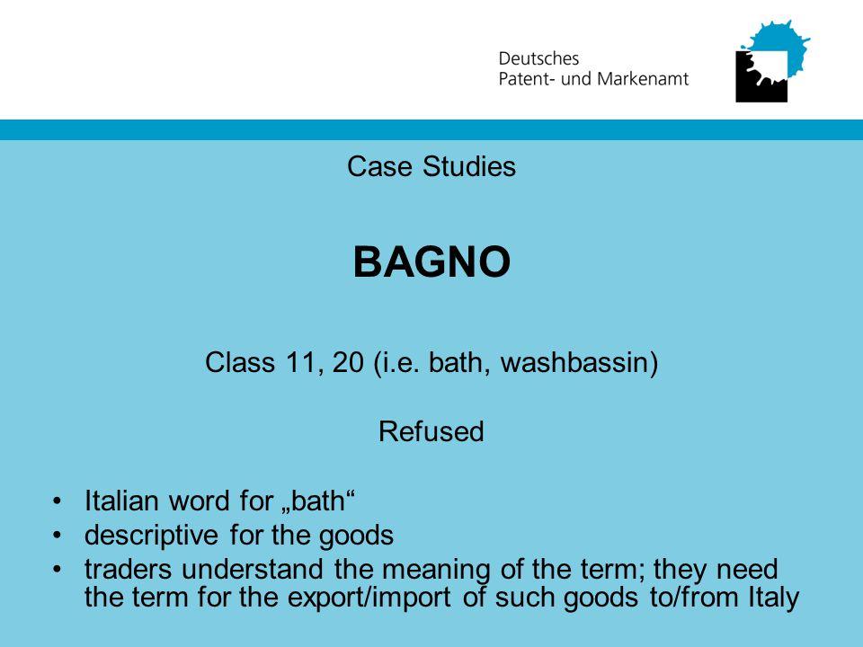 Case Studies BAGNO Class 11, 20 (i.e.