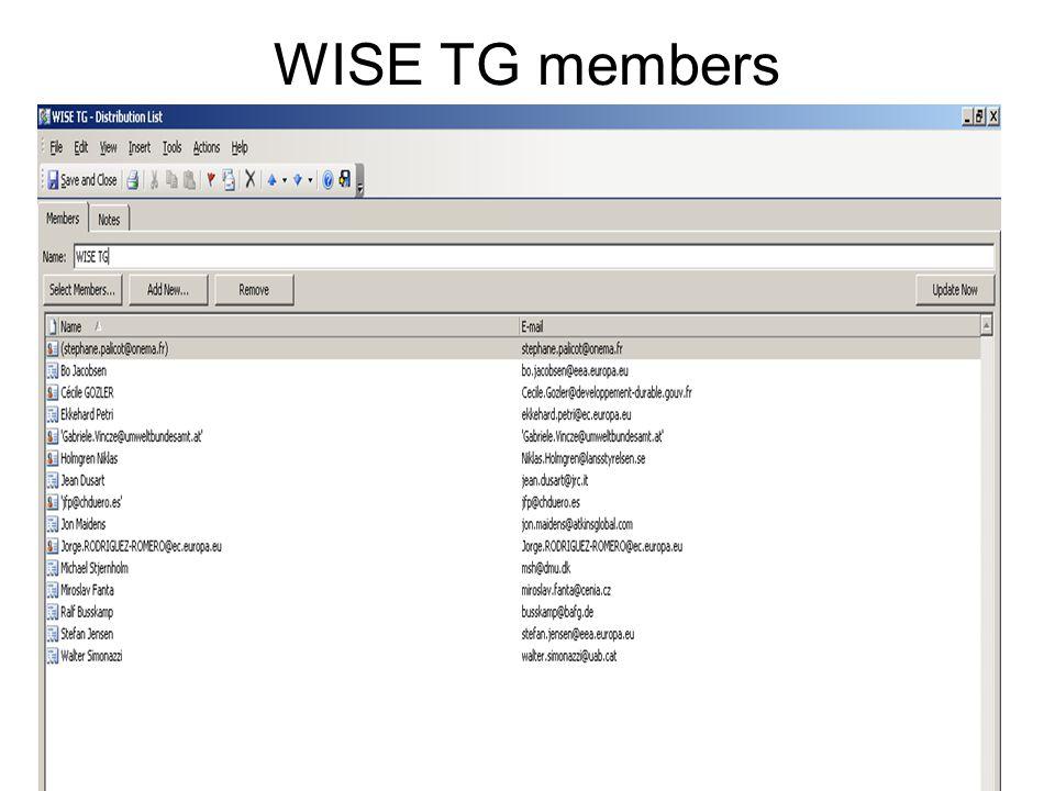 2 WISE TG members