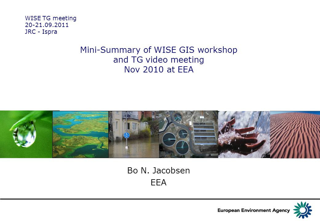Mini-Summary of WISE GIS workshop and TG video meeting Nov 2010 at EEA Bo N.