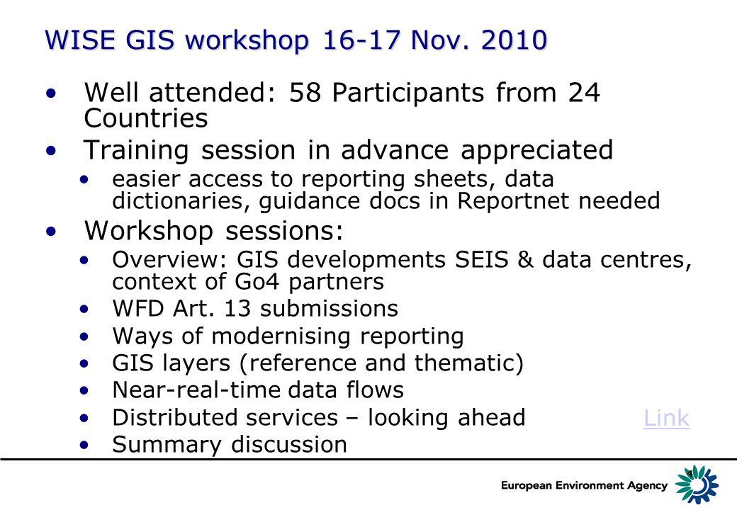 4 WISE GIS workshop 16-17 Nov.