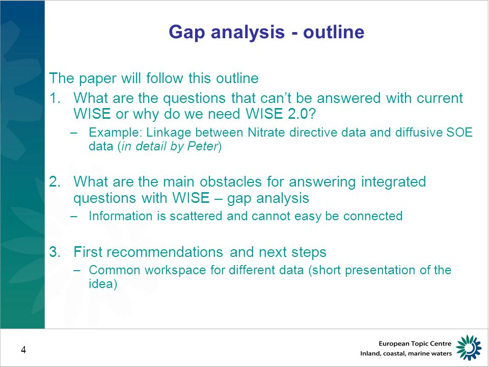 WISE implementation plan - I QA/QC - WFD is complex - Reportnet yes again, but develops more flexiblility (Søren Roug) - Eionet / directives not integrated SIIF/ distributed system partly mentioned – developed further (ENV, next presentation) Common work space for interoperability and targeted access (new) Functions for remote access, download and targeted retrieval Arc GIS – updated technology (session III) INSPIRE compliance to be further worked on for all directives (session IV)