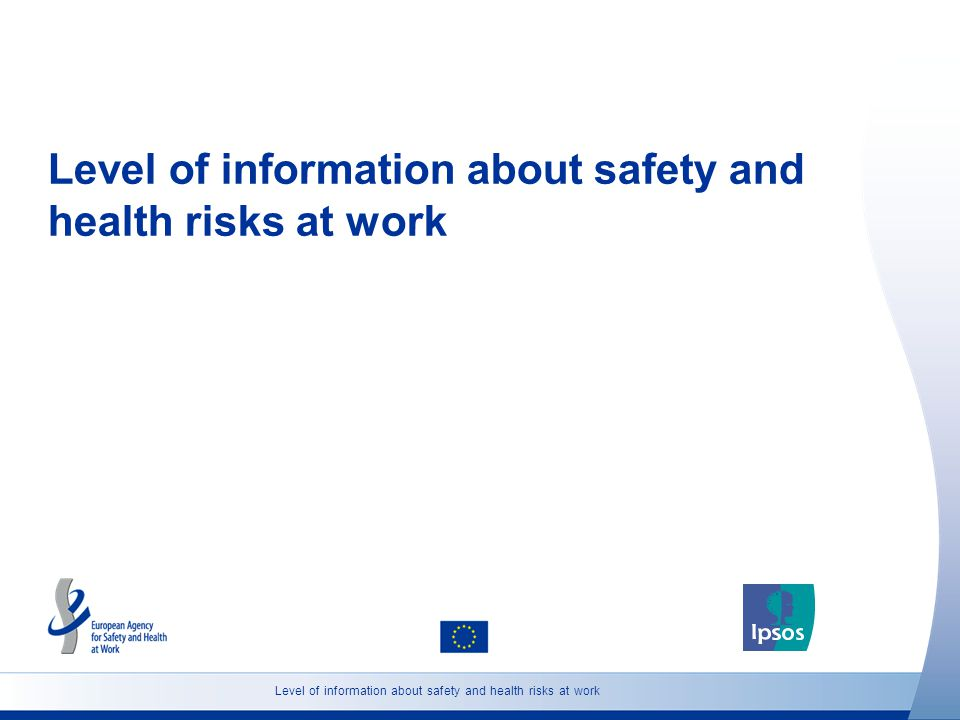 Level of information about safety and health risks at work