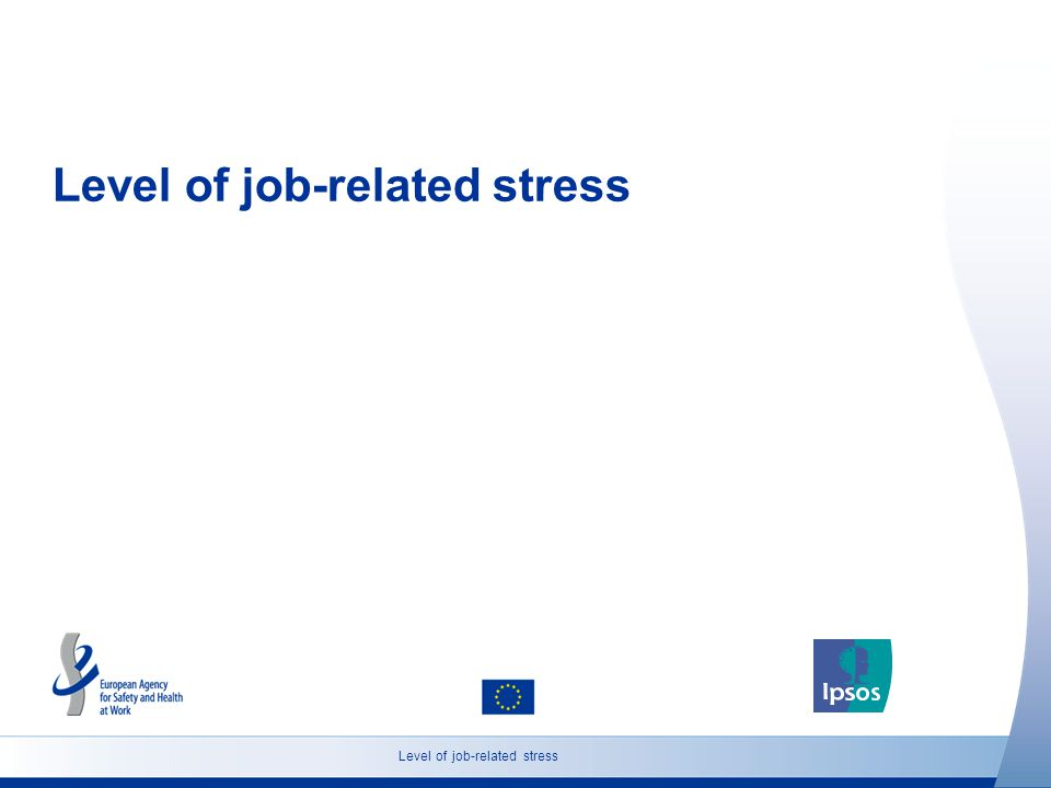 Level of job-related stress