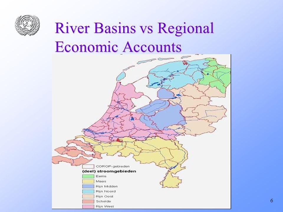 6 River Basins vs Regional Economic Accounts