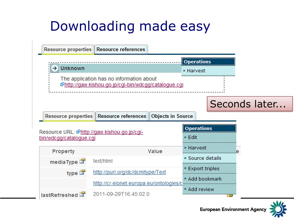 Downloading made easy Seconds later...