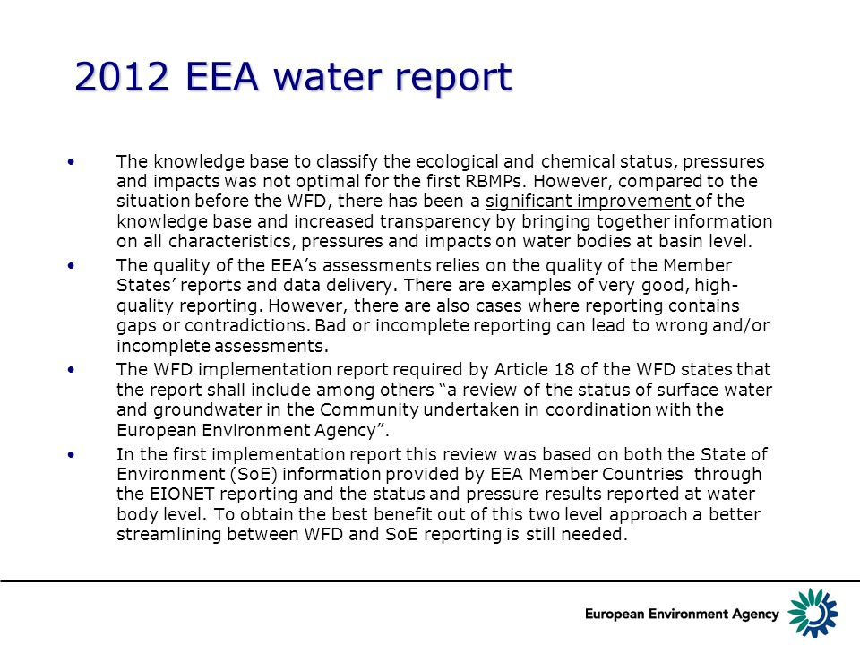 3 Linking the different databases WISE system development – using and developing EEA infrastructure from the content perspective SoE Rivers SoE Lakes SoE GW SoE Emissions WFD data Water accounting, ECRINS Waterbase Spatial datasets Other directives SoE MarineMSFD data Common codes, reference system Event/ date: WISE SG Brussels 2014/03/31 Author: Olaf Büttner, Beate Werner