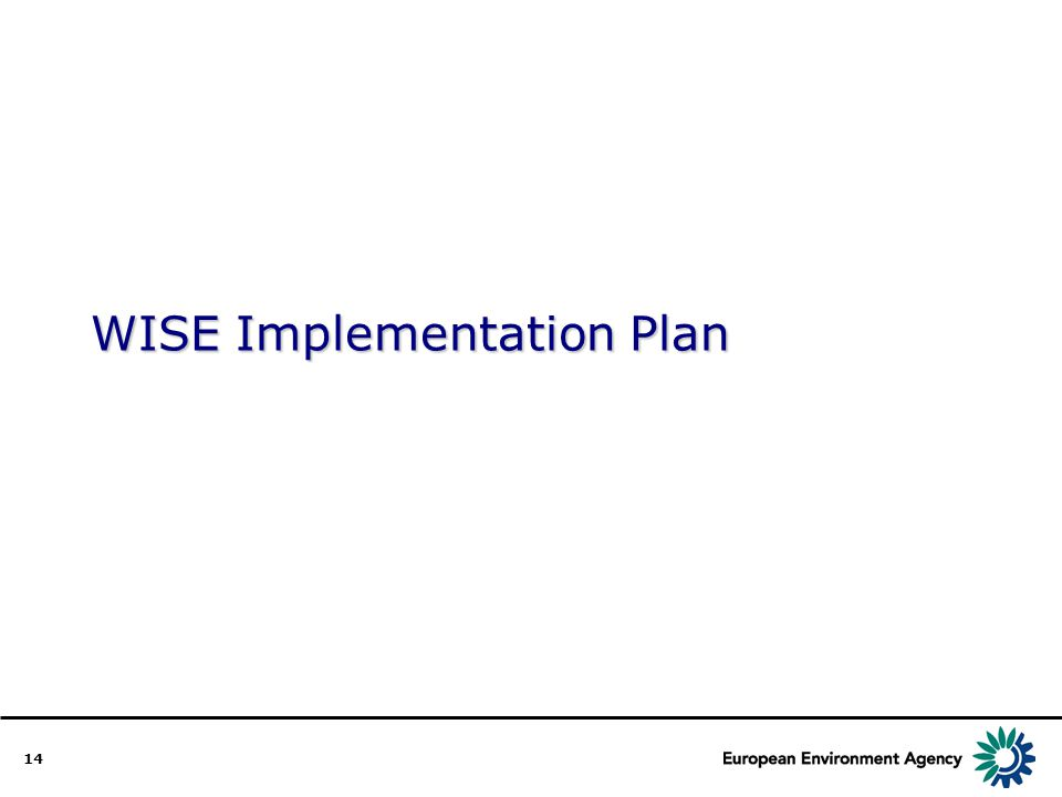 14 WISE Implementation Plan