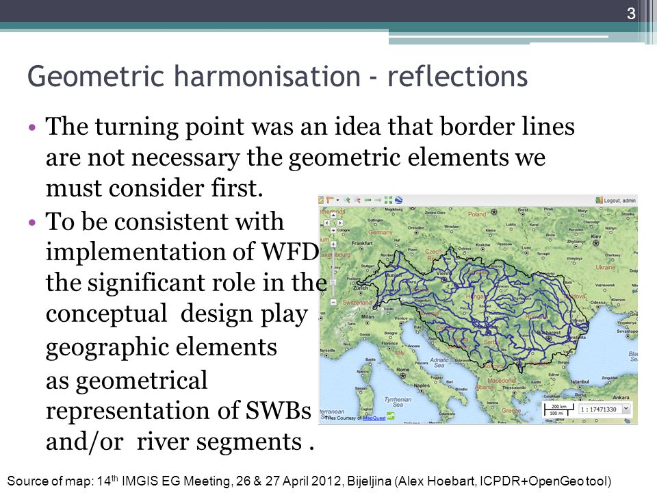 Geometric harmonisation - reflections The turning point was an idea that border lines are not necessary the geometric elements we must consider first.
