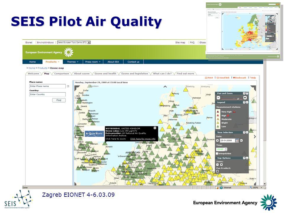 Zagreb EIONET 4-6.03.09 SEIS Pilot Air Quality