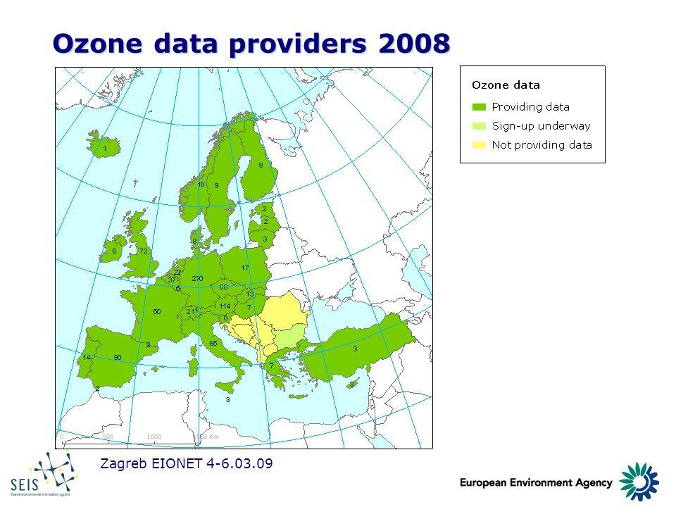 Zagreb EIONET 4-6.03.09 Ozone data providers 2008