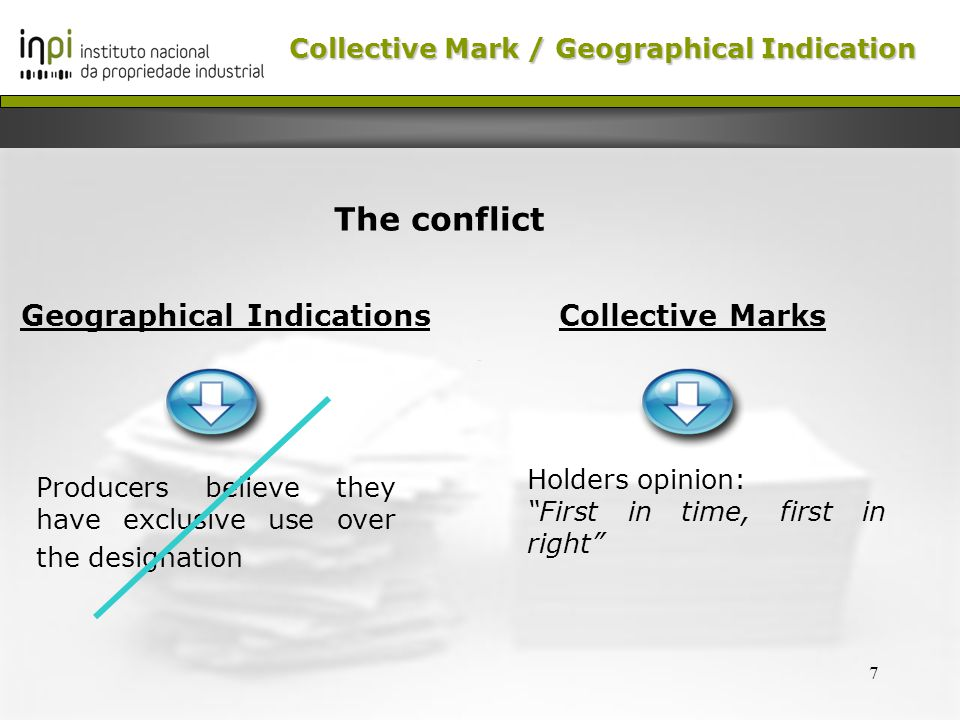 8 - Collective mark consisting of geographic elements YES But… Can it be registered Collective Mark /Geographical Indication Collective Mark / Geographical Indication