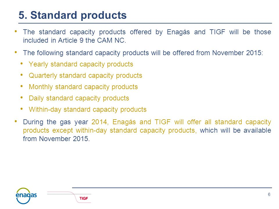5 4. Firm and interruptible capacity All products will be firm unless otherwise stated.