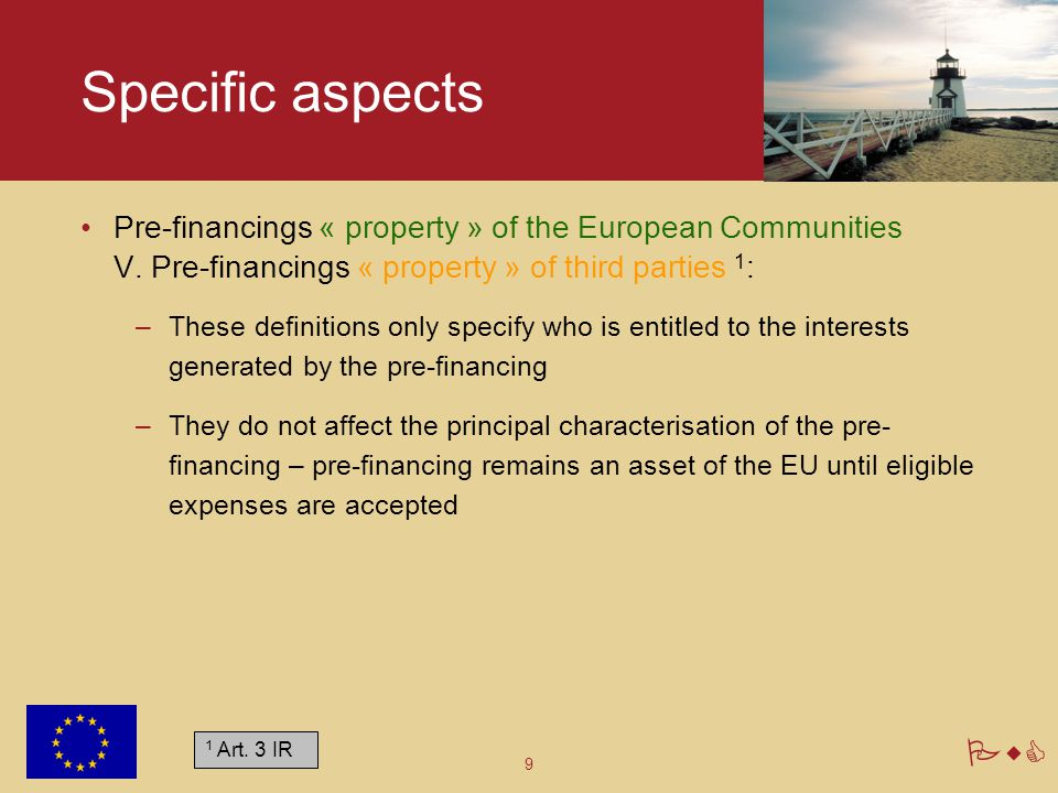 PwC Pre-financing 3. Life cycle