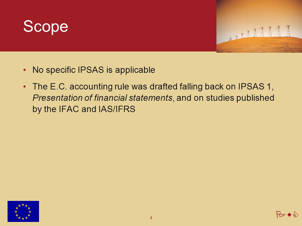 4 PwC No specific IPSAS is applicable The E.C.