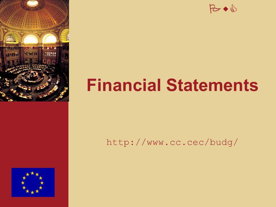 PwC Financial Statements http://www.cc.cec/budg/