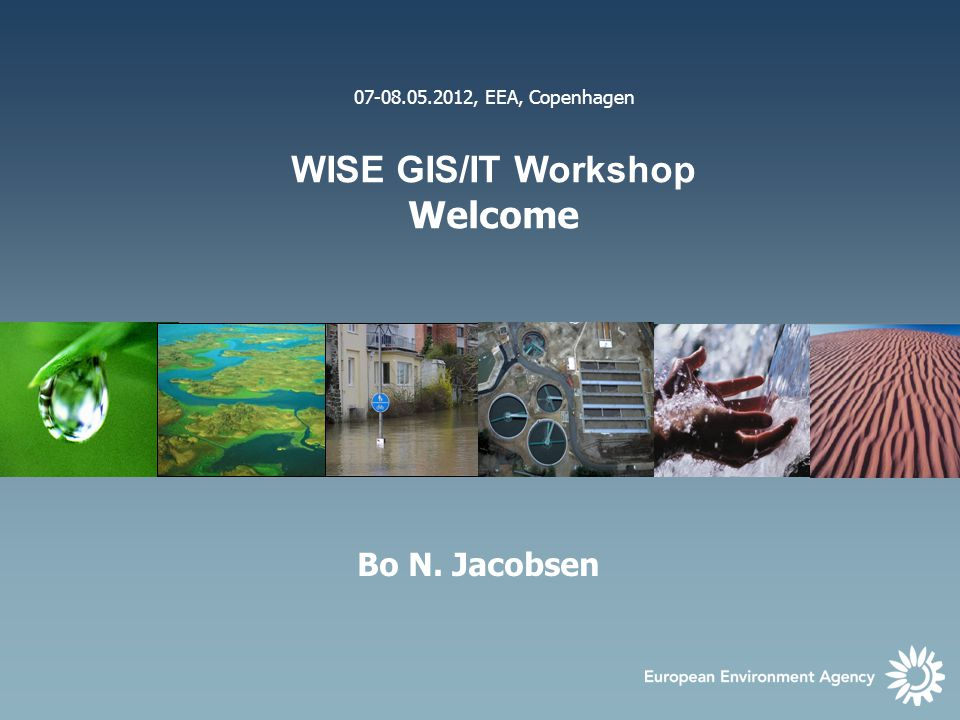 Workshop sessions New features in Reportnet and SEIS Options for distributed system INSPIRE and WISE relations Reference GIS datasets Eye on Earth developments / ClimAdapt platform GMES: GIO land developments Summary discussion in WISE IP context