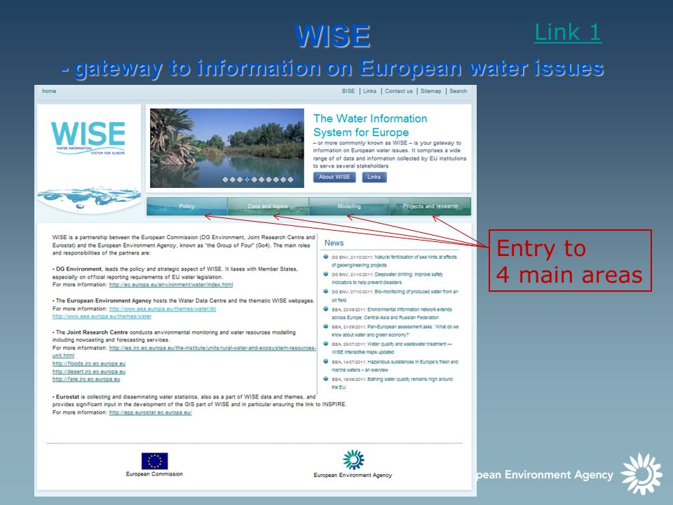 6 Water Data Centre provides access to WISE datasets, interactive maps,.. Link