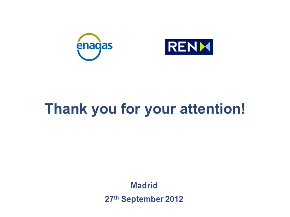 Thank you for your attention! Madrid 27 th September 2012