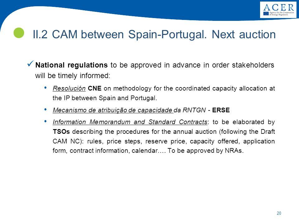 20 II.2 CAM between Spain-Portugal.