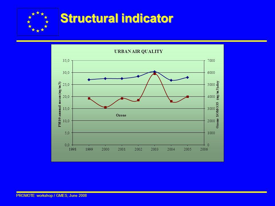PROMOTE workshop / GMES, June 2008 Structural indicator
