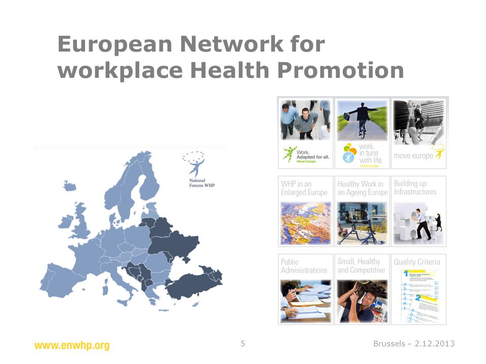 European Network for workplace Health Promotion Brussels – 2.12.20135