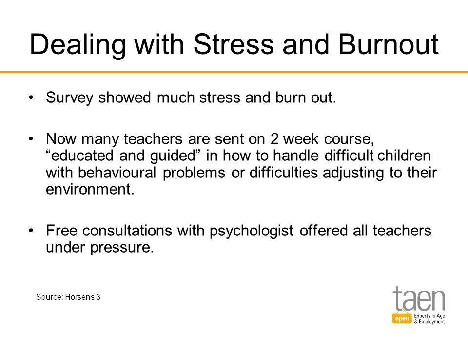 Dealing with Stress and Burnout Survey showed much stress and burn out.