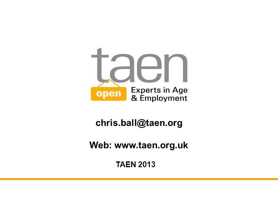chris.ball@taen.org Web: www.taen.org.uk TAEN 2013
