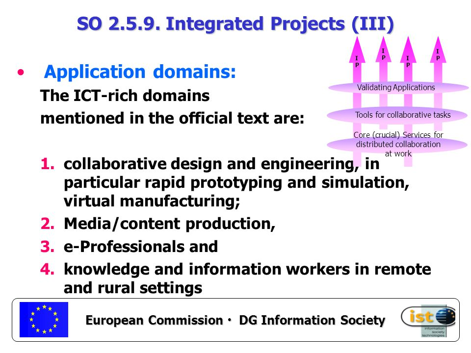 European Commission DG Information Society SO 2.5.9.