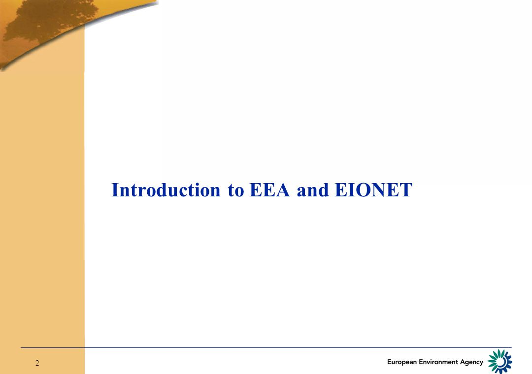2 Introduction to EEA and EIONET