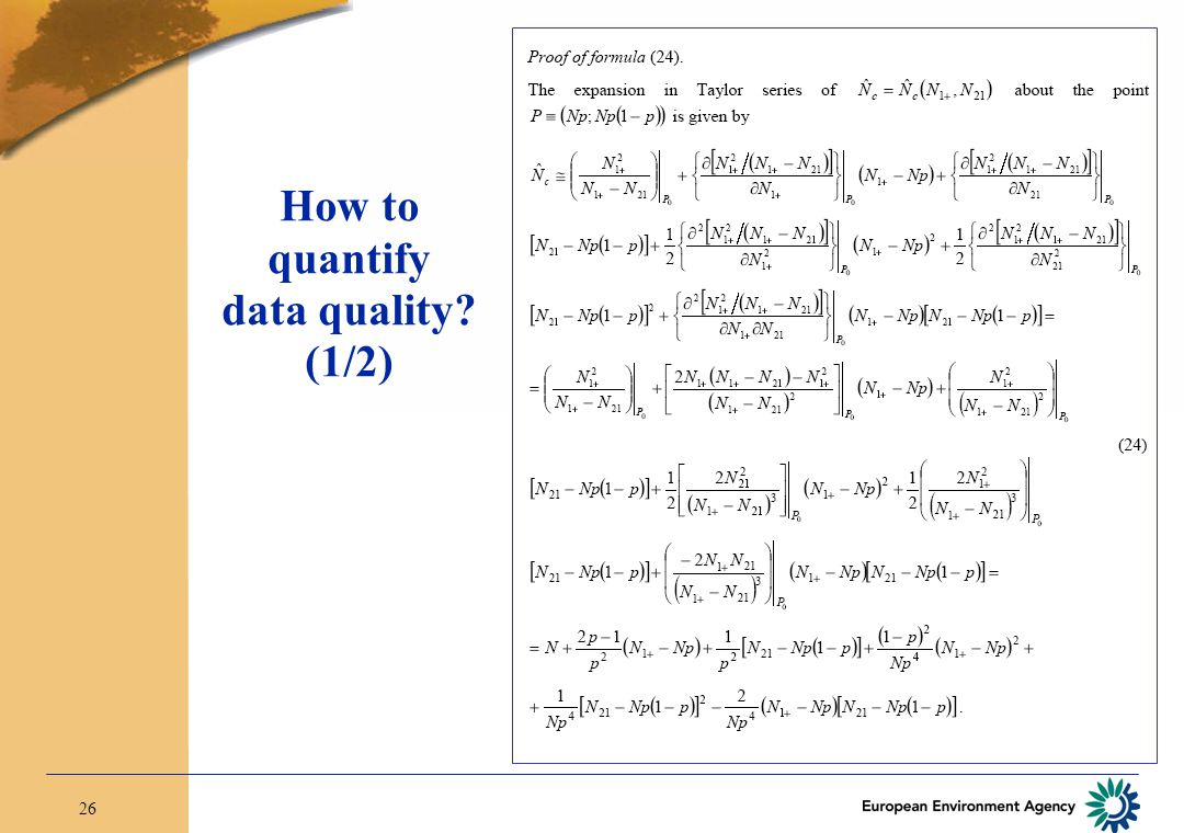 26 How to quantify data quality (1/2)