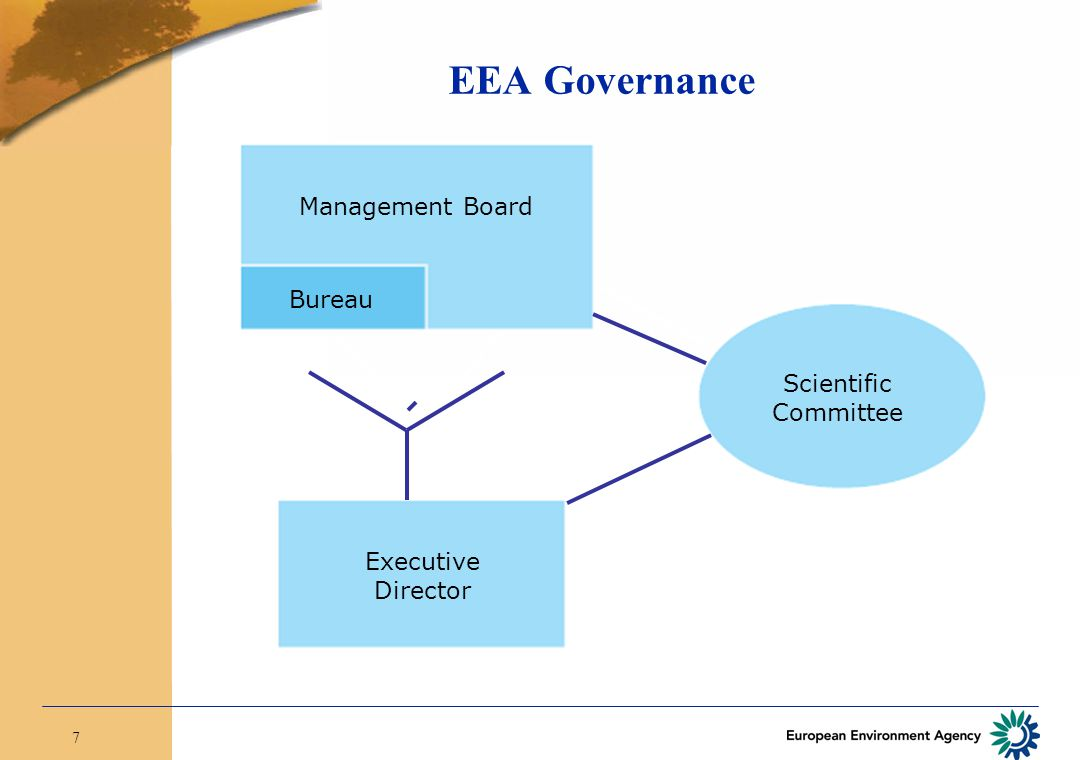 7 Management Board Bureau Executive Director Scientific Committee EEA Governance