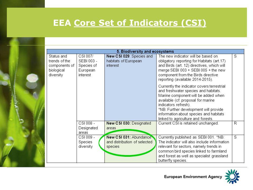 EEA Core Set of Indicators (CSI) 5.