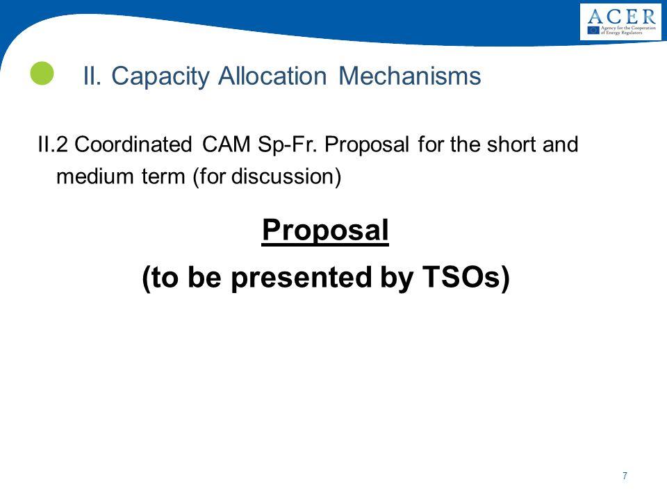 7 II. Capacity Allocation Mechanisms II.2 Coordinated CAM Sp-Fr.