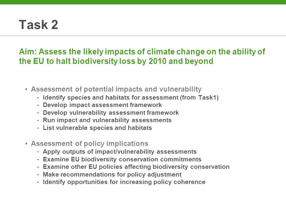 Impact and Vulnerability Assessments Impact assessmentVulnerability assessment Climate exposureClimate impact Sensitivity Adaptive capacity lowhighlow high resilient vulnerable high climate impact