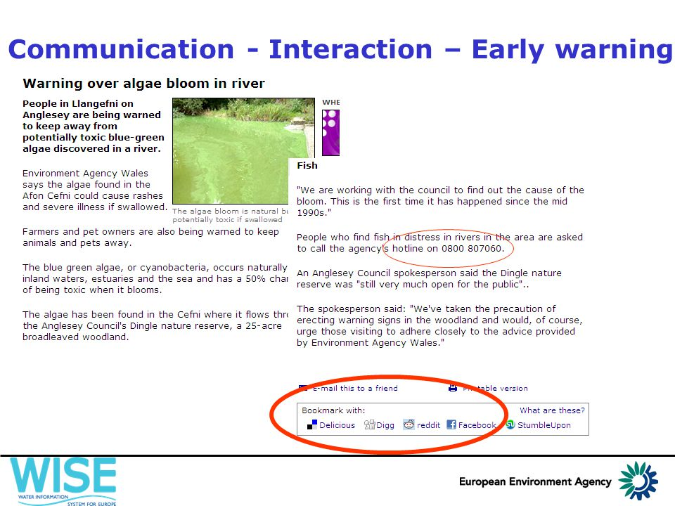 Communication - Interaction – Early warning