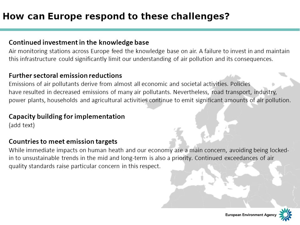 How can Europe respond to these challenges.