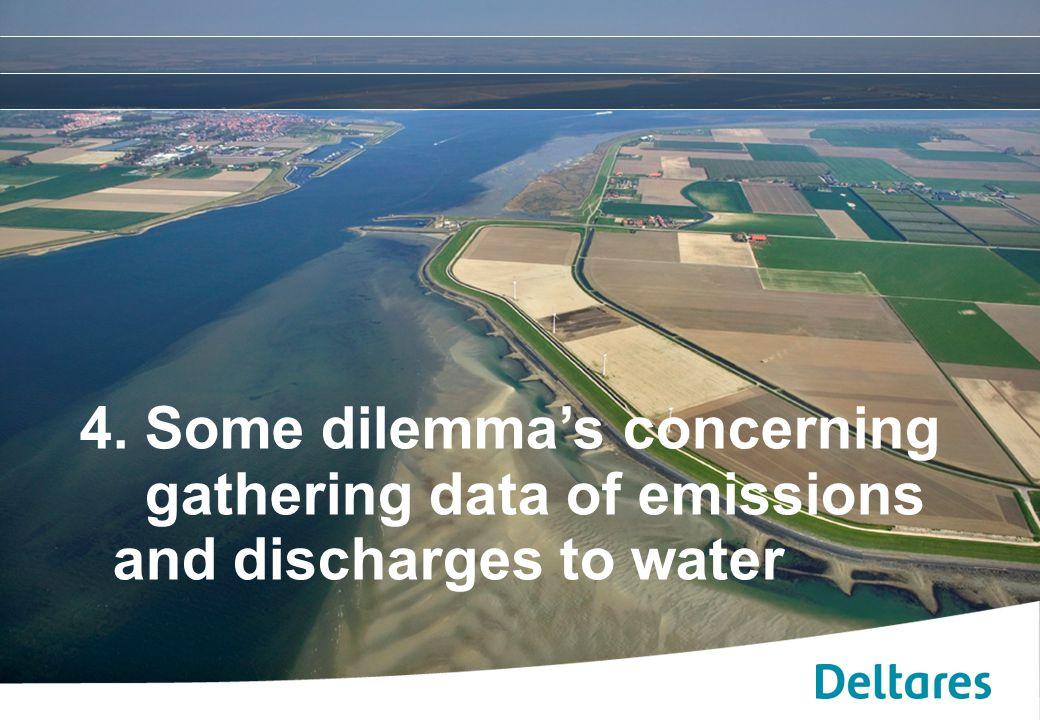 12 september 2007Positionering, branding en huisstijl Deltares -11 4. Some dilemma's concerning gathering data of emissions and discharges to water