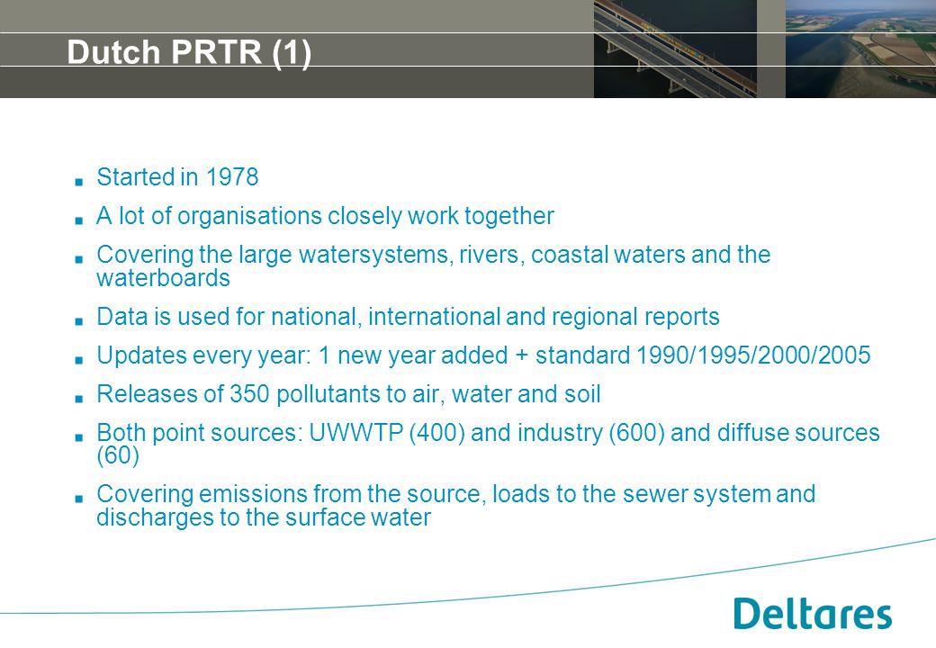 12 september 2007Positionering, branding en huisstijl Deltares -4 Dutch PRTR (1). Started in 1978. A lot of organisations closely work together. Cover