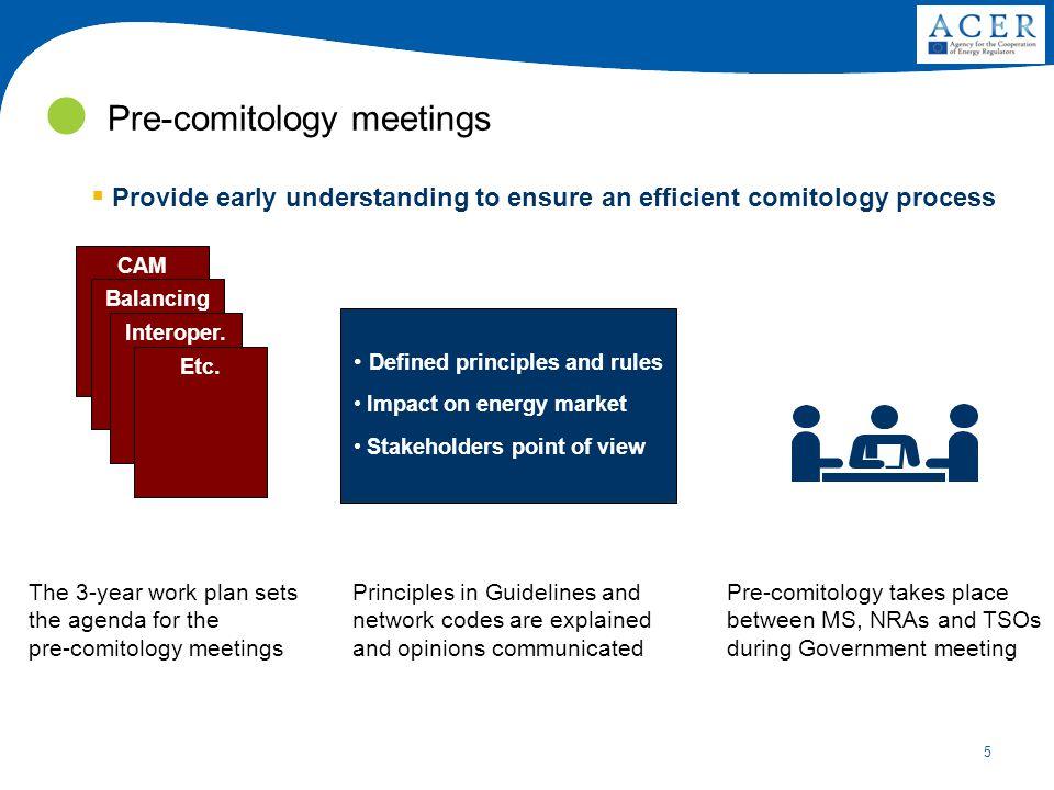 5 Pre-comitology meetings CAM Balancing Interoper.