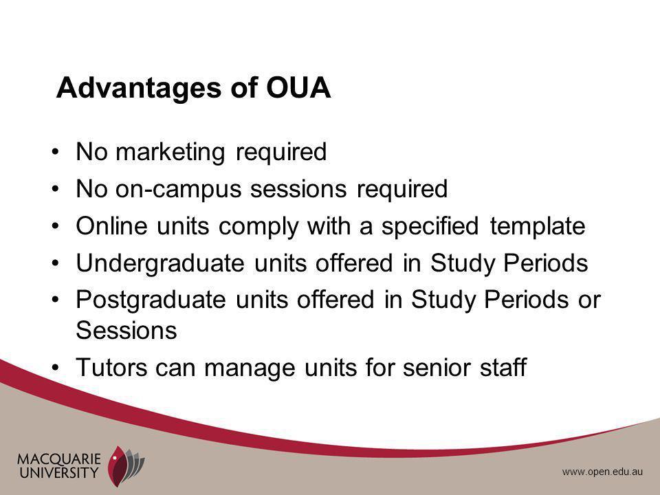 www.open.edu.au Study Periods & Sessions Study Periods:Sessions: SP1 Mar - MaySession 1 Mar - May SP2 Jun - AugSession 2 mid Jul - mid Oct SP3 Sep - NovSession 3 mid Nov - mid Feb SP4 Dec - Feb