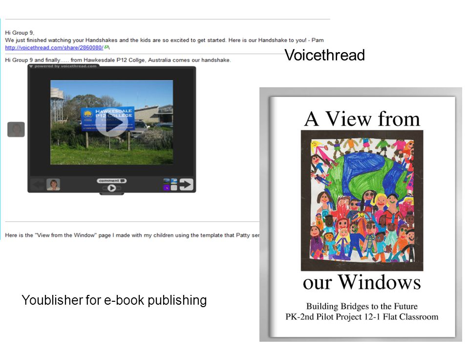 Voicethread Youblisher for e-book publishing