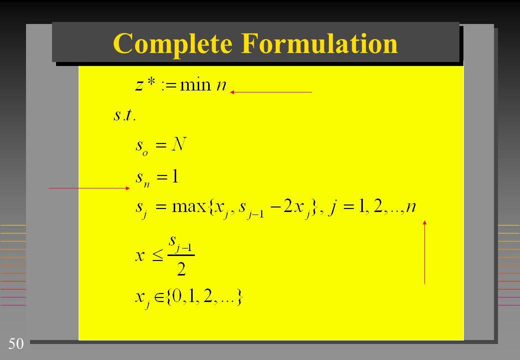 50 Complete Formulation