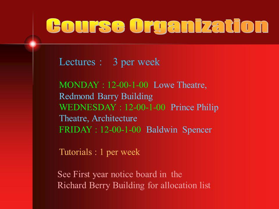 Stream 1 Dr Deborah King Room G42 Richard Berry Building dmk@ms.unimelb.edu.au 8344 8052