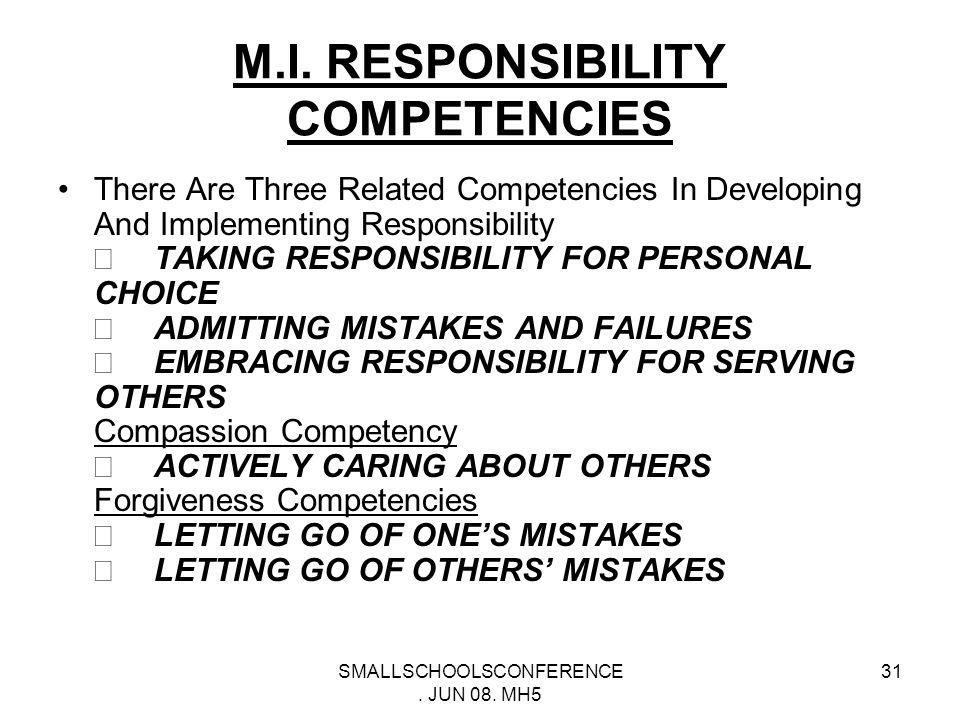 SMALLSCHOOLSCONFERENCE. JUN 08. MH5 30 BASIC QUESTIONS OF M.I.