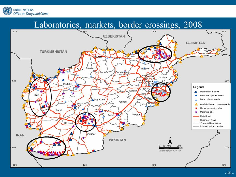- 20 - Laboratories, markets, border crossings, 2008