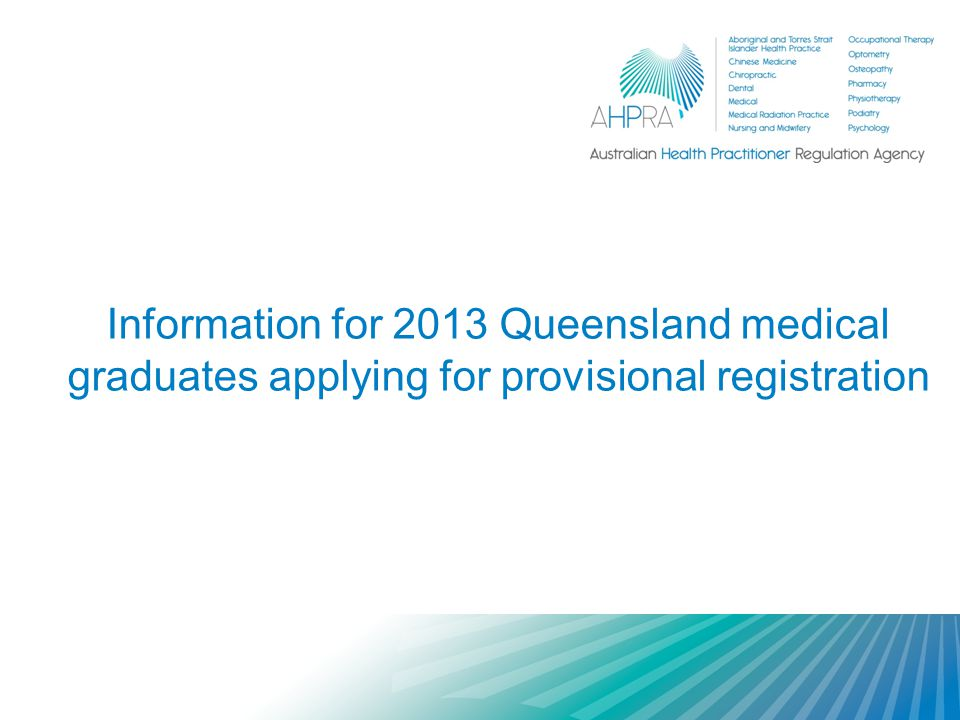 Who is the Medical Board of Australia.